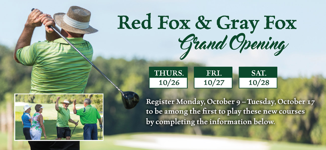 Register for Red Fox and Gray Fox Grand Opening Event